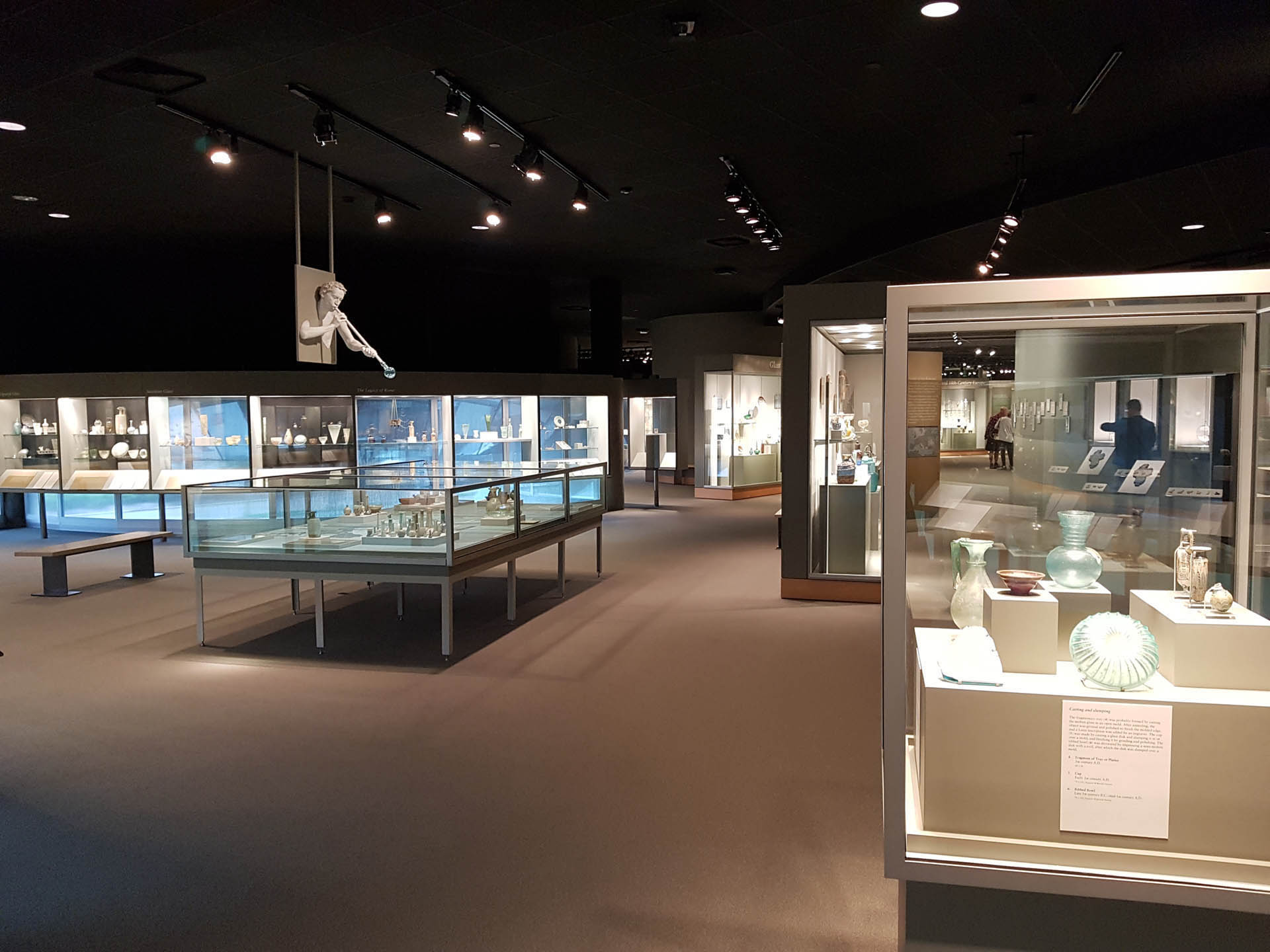 Ancient galleries at the Corning Museum of Glass
