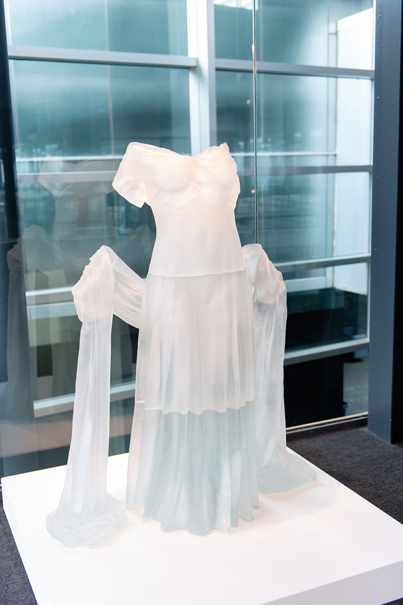 Glass dress at the Corning Museum of Glass