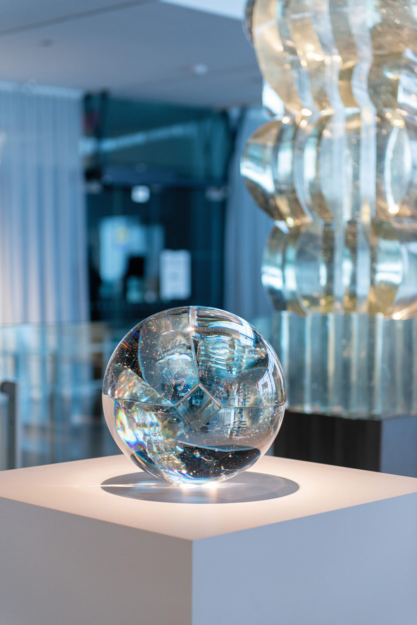 Crystal ball at the Corning Museum of Glass