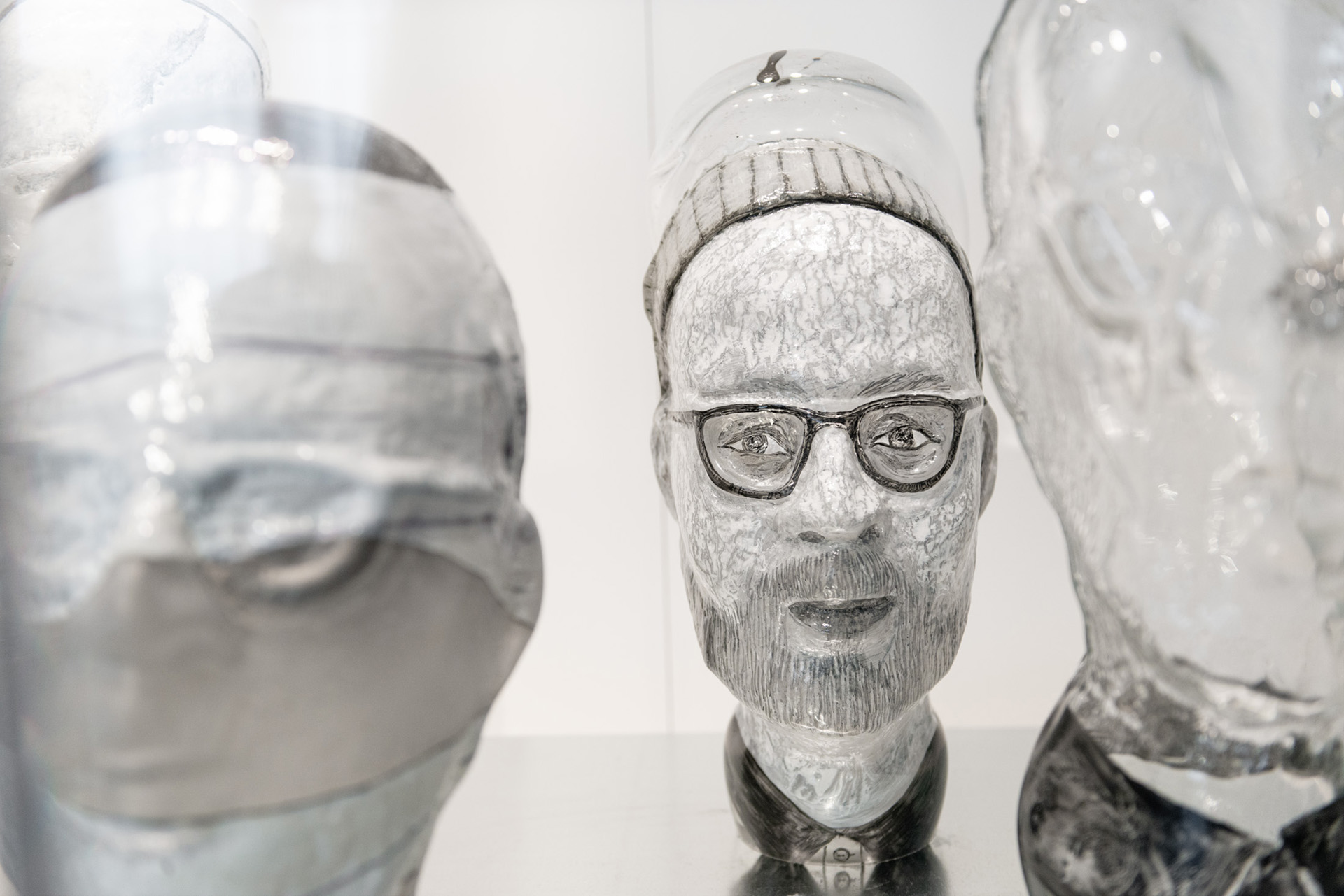Glass head at the Corning Museum of Glass